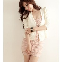 Puff Sleeve Women Clothing Fashion Elegant Long Sleeve Autumn Apparel Beige Cotton Coat One Size @GP0011be $11.99 only in eFexcity.com.
