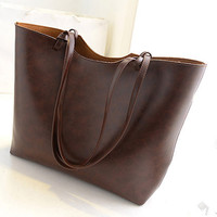 New Women Handbag Shoulder Bags Tote Purse PU Leather Women Messenger Hobo Bag @