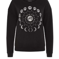 Black Moon Circle Sweater