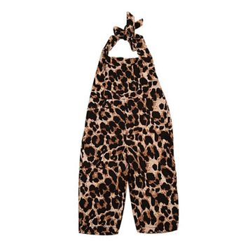 Toddler Infant Newborn Baby Boy leopard Romper  New Arrival Summer Jumpsuit Outfit Clothes