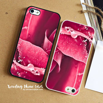 Pink Roses Flower iPhone Case Cover for iPhone 6 6 Plus 5s 5 5c 4s 4 Case