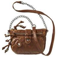 Mad Love Washed Crossbody Bag - Brown