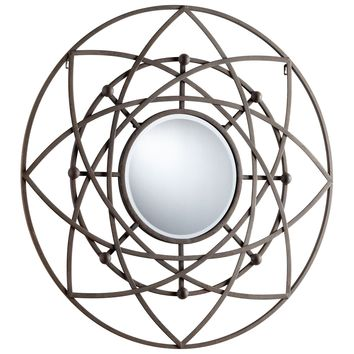 Robles Contemporary Round Wall Mirror by Cyan Design