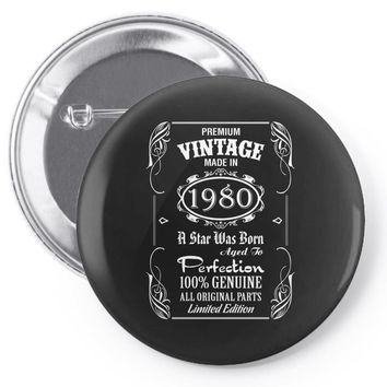 Premium Vintage Made In 1980 Pin-back button