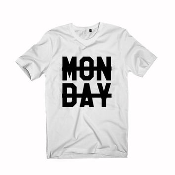Monday Crossed Out T-shirt Unisex size S,M,L,XL,XXL,3XL