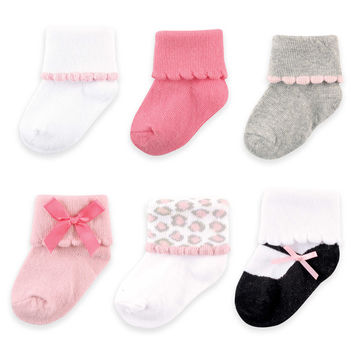 BabyVision® Luvable Friends® 6-Pack Dressy Cuff Socks