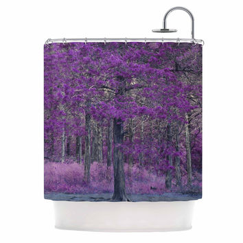 "Sylvia Coomes ""Purple Tree"" Purple Black Photography Shower Curtain"