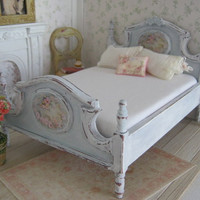 Romantic Bed for Dollhouse