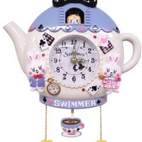 Tea Party Clock 2 Blue - ONLINE SHOP - SWIMMER