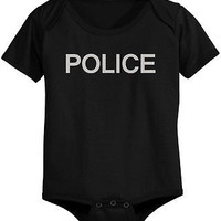 Funny Police Baby Bodysuit - Pre-Shrunk Cotton Snap-On Style Baby Onesuit