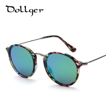 Dollger Vintage sunglasses women mirrors glasses men oculos METAL coating sunglass safety sun glasses Reflective lens S0012