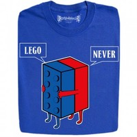 Guys : Lego Never Let Go Evolution Toy Funny Design T-Shirts And Hoodies