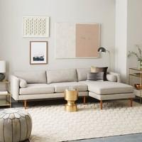 Monroe Mid-Century 2-Piece Chaise Sectional