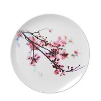 Cherry Blossom Plate from Zazzle.com