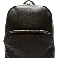 Marc By Marc Jacobs Blue-black Grained Leather Backpack
