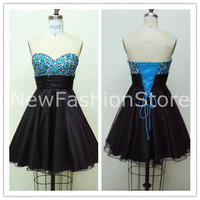 New Fashion Sweetheart Neckline Strapless Sleeveless Short Mini Prom&Party Dress