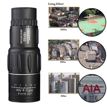 Hot Sale 16X52 Dual Focus Monocular Telescope 16x Zoom Binoculars 66M/8000M HD Scope with Cleaning Cloth & Pouch for Outdoor Use