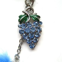 Cell Phone / Camera Charm Strap Beautiful Blue Grapes