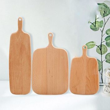 Hippo Home Wooden Cutting Board Kitchen Chopping Block Wood Cake Sushi Plate Serving Trays Bread Fruit Pizza Tray Baking Tool