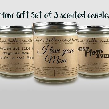 Mom Gift Set - 3 8oz Soy Candles