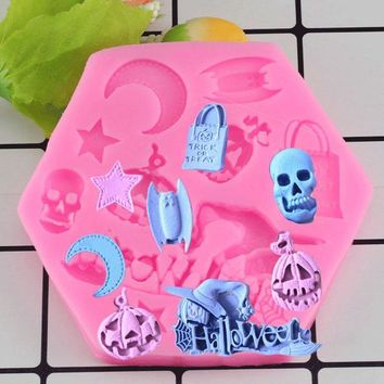 Halloween Pumpkin Silicone Fondant Soap 3D Cake Mold Cupcake Candy Chocolate Decoration Baking Tool