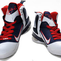 lebron james ix 9 dark blue and white red mens basketball sneakers online