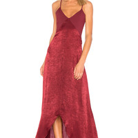 Donna Mizani Luxe Maxi Dress in Wine | REVOLVE