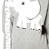 ASOS Sweatshirt with Elephant Print at asos.com