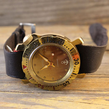 Vintage Vostok Boctok Wostok Amphibia Cadet Junior watch russian watch gold plated ussr ccp soviet watch