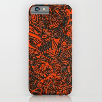 Inky - Orange & Green iPhone & iPod Case by DuckyB