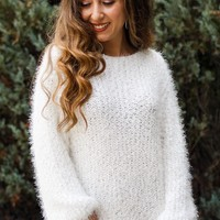 Soft Fuzzy Plain Sweater
