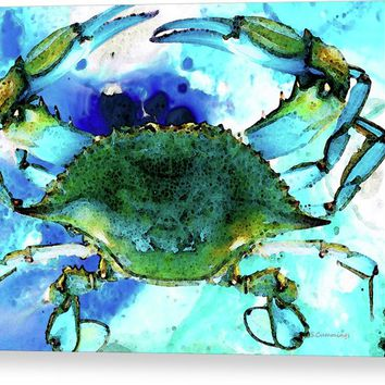 Blue Crab - Abstract Seafood Painting Acrylic Print