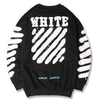 OFFWHITE Women Men Fashion Casual Plus Velvet Top Sweater Pullover-2