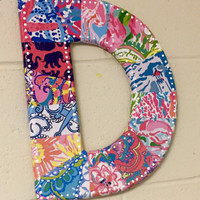 Lilly Pulitzer letters 12""