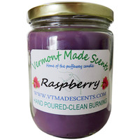 Raspberry, 16 oz, Burns 160-200 Hrs, Vermont Made Candle, Long Lasting
