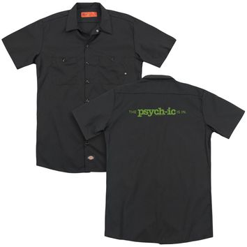 Psych - The Psychic Is In (Back Print) Adult Work Shirt