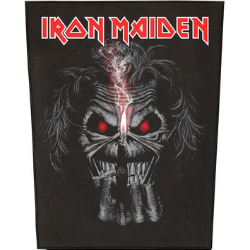 Iron Maiden Men's Eddie Candle Finger Back Patch Black