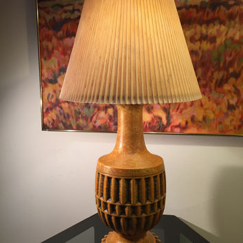 Retro Mid Century Vintage Painted Metal Lamp Hollywood Regency
