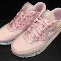 Nike Shoes – Air Max 90 Se Mesh (Gs) Pink/White Basketball Shoes
