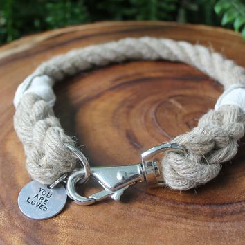 Just Hemp Rope Dog Collar (1/2 inches)