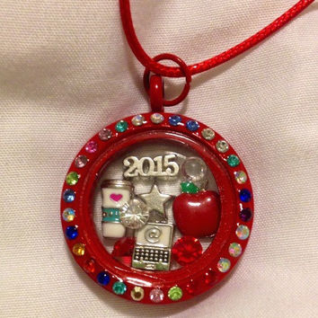 End Of The Year Teacher Appreciation Gift Floating Charm Memory Locket