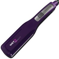 Remington S8001G Wet 2 Straight Wide Plate Wet/Dry Ceramic Hair Straightening Iron with Tourmaline, 2-inch, Purple