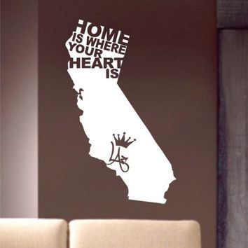 Home Is Where Your Heart Is Decal Sticker Wall by dabbledownJunior