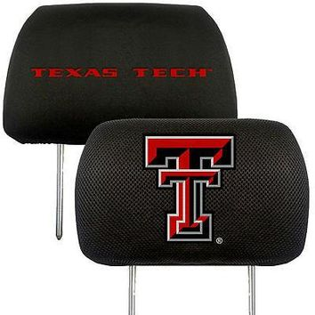 Texas Tech Red Raiders  2-Pack Auto Car Truck Embroidered Headrest Covers