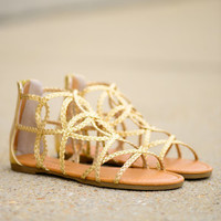 Golden Goddess Sandal, Gold