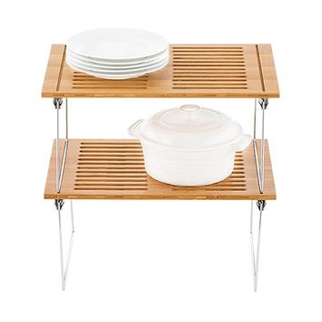 Medium Bamboo Stacking Shelf