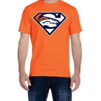 Super Broncos Mens T-shirt Denver Colorado  nfl  football Hero