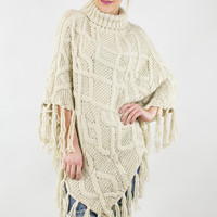 Ponderosa Patterned Knit Poncho