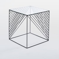 Crisscross Wire Side Table - Glass