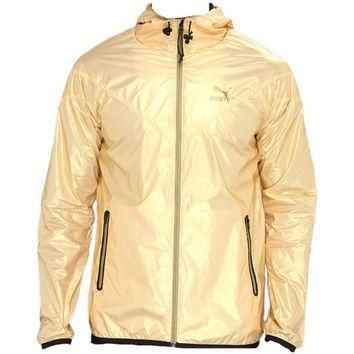 gold puma windbreaker jacket  number 1